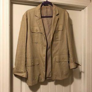 Linen cotton blazer